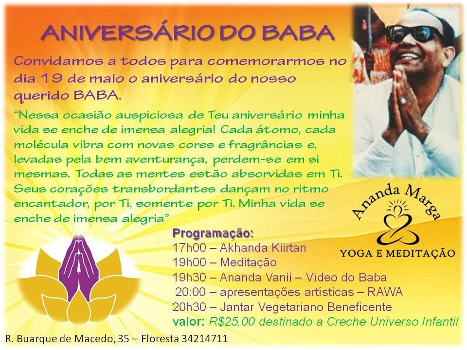 ANIVERSÁRIO DO BABA 19 DE MAIO